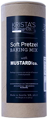 - Krista's Baking Co. Soft Pretzel Baking Mix with Mustard and Co. Gift Set