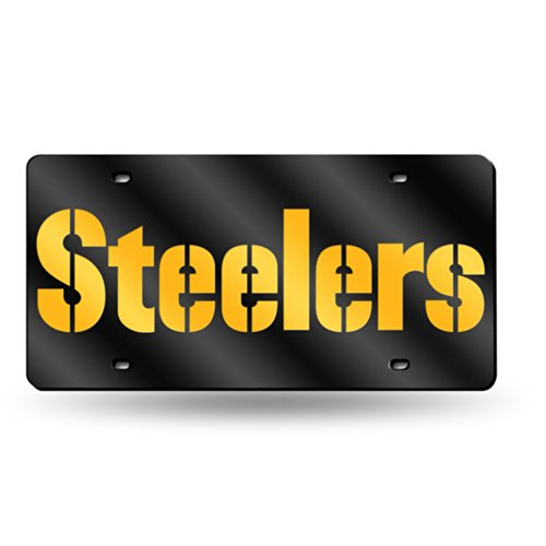 - Pittsburgh Steelers Deluxe Mirrored Laser Cut License Plate