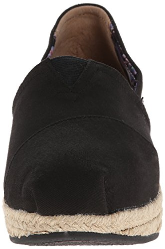 Bobs De Skechers Points Forts Féminins Flexpadrille Wedge Black Canvas