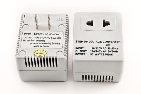 Simran SM250F 110 Volt Step Up Voltage Converter For Usa, Converts 110V To 220V, 50 Watt
