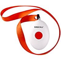SINGCALL Oval Rounded Shape with Lightweight, Comfortable to Wear Convenient, Fit for Old, Patients or Children, Suitable to Patrol Officers Calling, One-button Pager(APE160)it Cant Be Used Alone!!