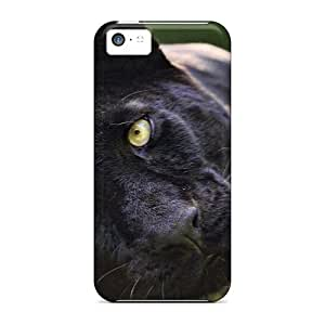 [zdAywat5976sSttI]premium Phone Case For Iphone 5c/ Black Leopardess Tpu Case Cover
