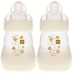 MAM Anti-Colic Bottle, Unisex, 5 Ounces, 2-Count