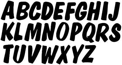 Gold Metallic Glitter HandCut 1.5 Chipboard Letters Alphabet Set Lollipop Font Sickers Uppercase