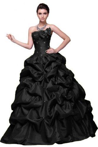 da A Pageant Sunvary linea Vestito elegante lungo della abiti Sweetheart Nero Line sera PIF8IrO