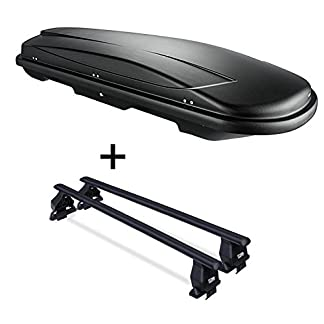 VDP Roof Box VDPJUXT600 600 Litres Lockable + Menabo Tema Roof Rack Compatible with Land Rover Discovery 4 (L319 5-Door… 10
