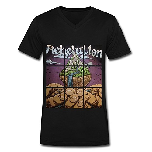 YC Big Boys' Rebelution 2016 Men's T Shirt Black L (Rebelution Band)