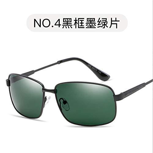 dark Pieza de polarizadas Negro de Gafas Retro Sol de de frame polarizadas conducción Sol green Hombre Sol Black metálicas para Burenqiq Marco Gafas Gafas polarizadas Gafas Gris 1AqR4