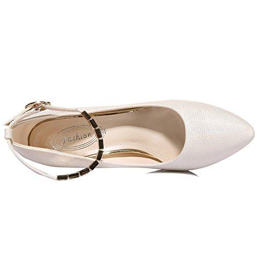 sharp 37 trapano interessante AJUNR bene Moda qui sexy sola beige scarpa 8cm 6 Da Alla 36 va Donna acqua Sandali qw1wxB