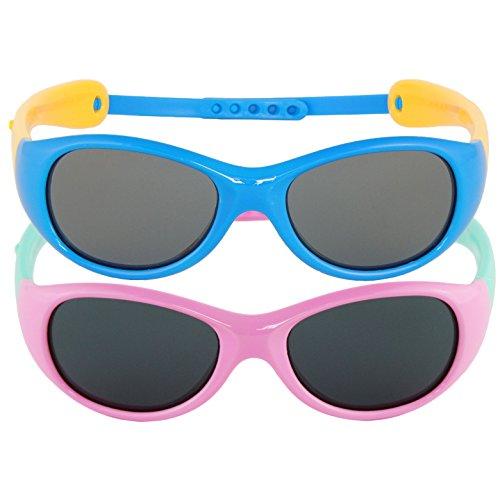 Boys Girls Kids Infant Polarized UV Protection Sunglasses (Set of 2) - Coast Discount Gold Sunglasses