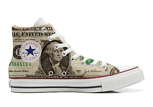 Converse All Star personalisierte Schuhe (Custom Produkt) Dollaro USA