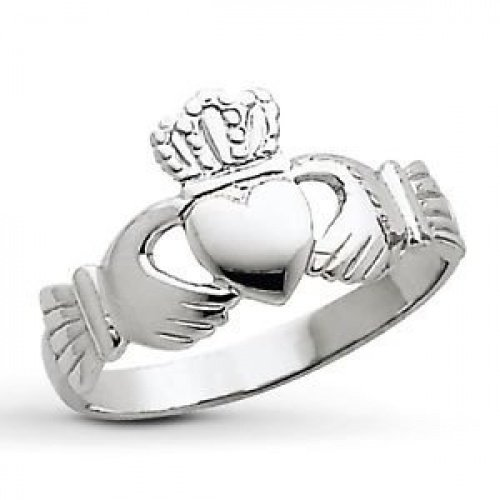 Red Crimson STERLING SILVER CLADDAGH RING various sizes...