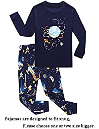 Little Boys Pajamas Sets 100% Cotton Pjs Toddler Kids Pj
