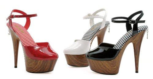 Womens 6 Inch Stiletto Heel Wood Print Closed Toe Platform Sandal Black 9zdQbdhIv
