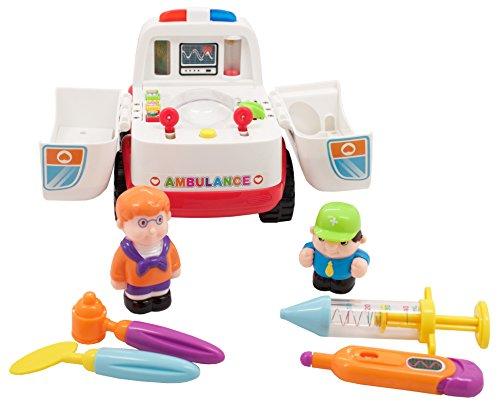 Techege Toys All Around Ambulance Bump'n'Go Learn'n'Play Kids Doctor Play Medicine EMT Emergency Fun]()