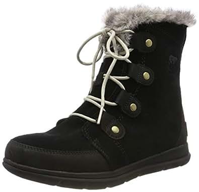 SOREL Explorer Joan Winter Boots - Women's Black/Dark Stone 5