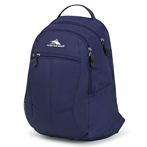 High Sierra Unisex Curve Backpack, Lightweight and Stylish Bookbag Backpack for College Students with Padded Shoulder Straps