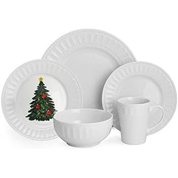 this item american atelier 20 piece radiant christmas dinnerware set white