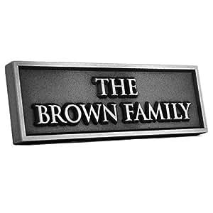 Histórico O familia nombre sign 12x 4–planteado plateado con revestimiento de níquel Metal
