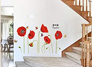 DIY Removable Wall Stickers For Living Room Home Decor - safflower