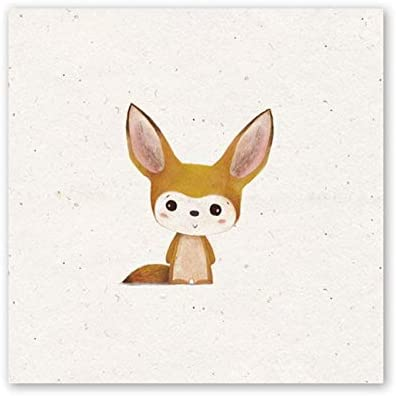 SDFSD Cute Cartoon Lovely Baby Animal HD Painting Poster Wall Art Picture for Kids Room Dormitorio Decoración para el hogar Living Canvas Painting 40 * 40cm E