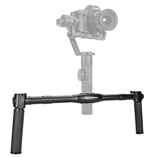 Dual Handle Grip Handheld Handlebar Kit for Gimbal Zhiyun Crane 2 3-Axis Gimbal Stabilizer (Parts Pro Crane)