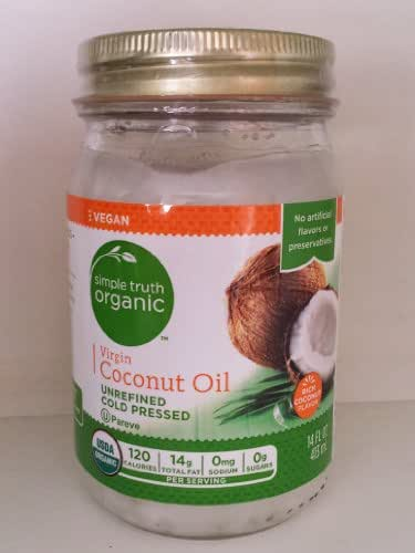 Coconut Oil, virgin cold pressed -- 14 fl oz jar
