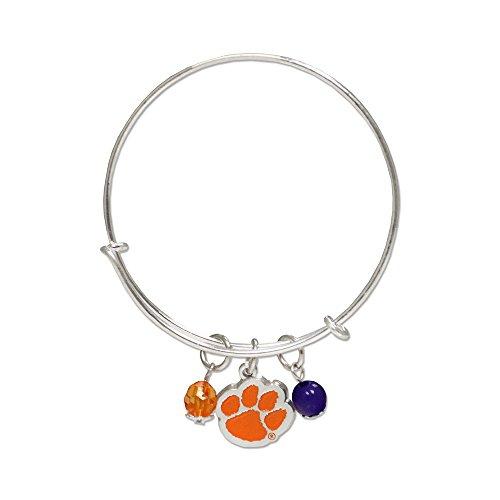 (Fan Frenzy Gifts NCAA Clemson University Tigers Bangle Charm Bracelet )