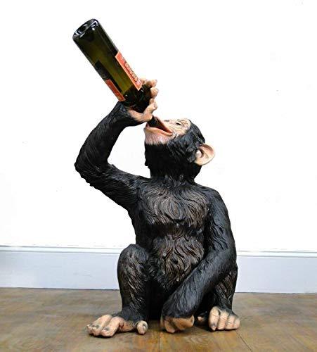 (The Kings Bay Drinking Monkey Statue Drunk Butler Wine Bottles Beer Ape Sculpture Biscaretti)