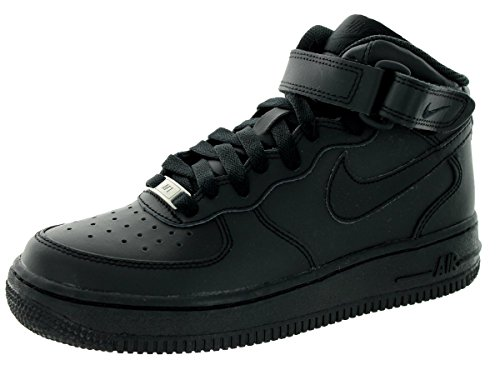 Nike Mænd Air Force 1 Mid '07 Basketball Sko, Blå Sort (004 Sort / Sort)