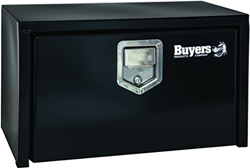 Buyers Products Black Steel Underbody Truck Box w/ Paddle Latch (14x12x24 Inch) ()