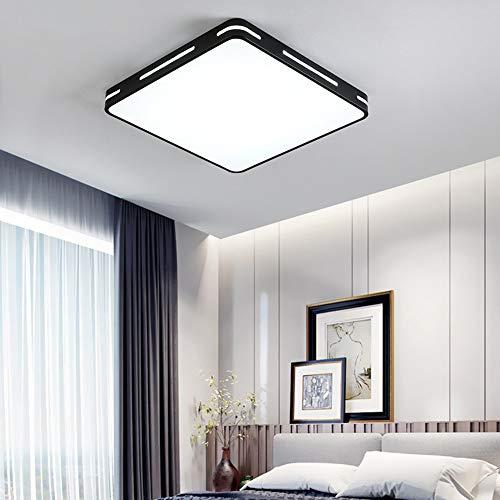 Modern Ultrathin Black LED Ceiling Light Lamp 3 Color Temperatures in One (3000k / 4000k / 6500k) LED Flush Mount Ceiling Light – 36W 350W Equivalent Square LED Ceiling Lamp 5x40x40cm