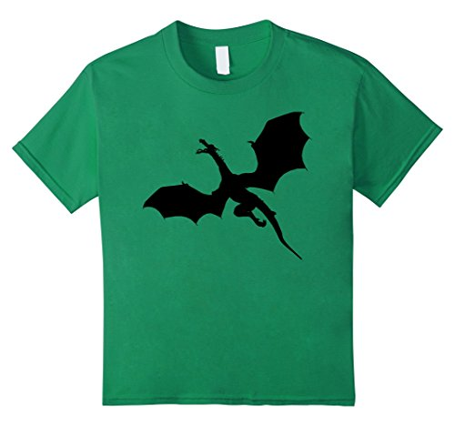 Kids Sleek Dragons Shadow Graphic Print T-Shirt 6 Kelly ()