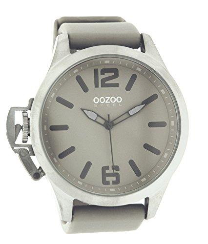 Oozoo Steel os0278 XXL Mujer Reloj De Plata Gris