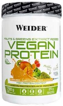 Weider Vegan Protein. Sabor Mango-Matcha. Proteína 100% vegetal de ...