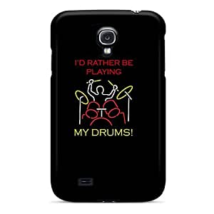 High Grade AnnetteL Flexible Tpu Case For Galaxy S4 - Id Rather Be Drummin by mcsharks