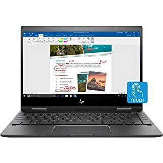 HP Envy x360 13m-ag0002dx 13.3in Full HD 2-in-1Touchscreen Notebook Computer, AMD Ryzen 7 2700U 2.2GHz, 8GB RAM, 256GB SSD, Windows 10 Home, Dark Ash Silver - Refurbished with 90 Day Warranty