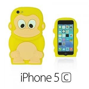 OnlineBestDigital - Monkey Style 3D Silicon Case for Apple iPhone 5C - Yellow