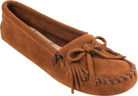 Kilty Suede Moc - Minnetonka Women's Kilty Suede Moc Softsole,Brown Suede,US 6 M