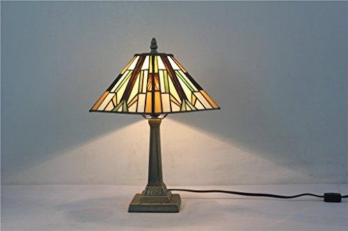 Carl Artbay Lighting CA1001TL01 Tiffany Style Mission Design Desk Lamps, 8 Inch - Beige Mission Desk Lamp
