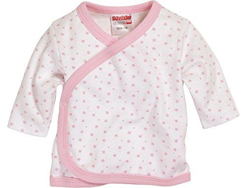 Schnizler Unisex Baby Hemd Wickelshirt, Flügelhemd, Erstlingshemd Langarm Sterne, Oeko Tex Standard 100, Gr. 56, Rosa (weiß/rose 586)