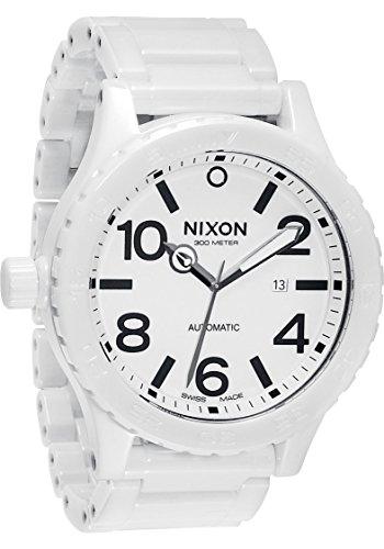 (Nixon Men's Ceramic 51-30 Analog Watch, Color: All White)