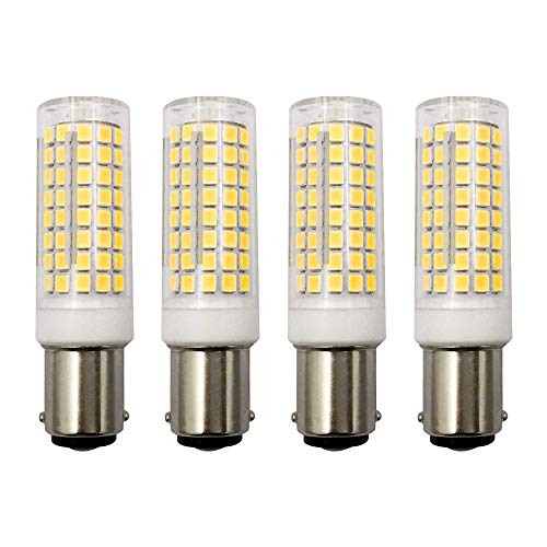MD Lighting 10W BA15D LED Corn Light Bulbs(4 Pack)- 102 LEDs 2835 SMD 1000lm Dimmable Double Contact Bayonet Base Sewing Machine Bulb 120V Warm White 3000K LED Corn Bulb 70W Halogen Replacement Bulb ()