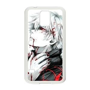 Kaneki Ken N1H6Ft Funda Samsung Galaxy S5 teléfono celular Funda Caja blanca de la caja del teléfono N1X7BF fundas personalizados