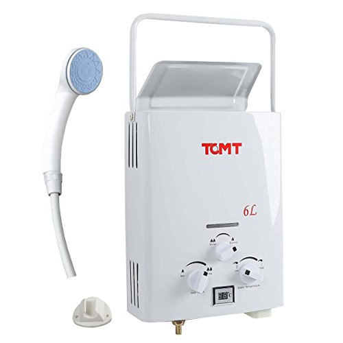 TC-Home Portable 6L LPG 1.6 GPM Propane Gas Tankless Outdoor Instant Hot Water Heater