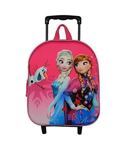 Sac A Dos A roulettes 31Cm Rose-La Reine des Neiges/Frozen Disney