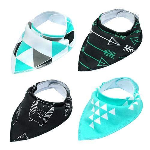 (LA2K 4pcs Adjustable, Dog Bandana Collar, Bandana Collar for Small Dog, Bandana Collar for Medium Dog, cat Bandana)