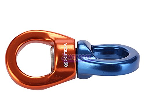 Zowaysoon 35KN Climbing Swivel Rotor Hook Swivel Ring Connetor Caster Rotary Connector for Rock Climbing
