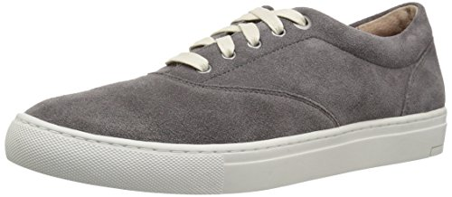 206 Collective Men's Olympic Casual Lace-Up Sneaker, Gray Suede, 11 D US