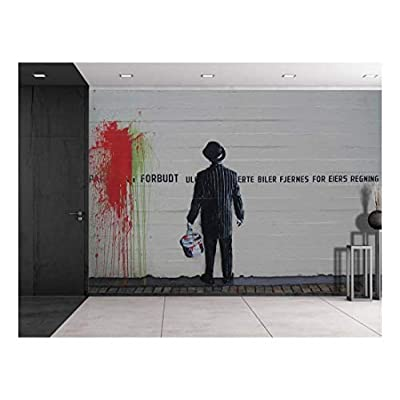 Charming Composition, Colorful Graffiti Large Wall Mural Removable Peel and Stick Wallpaper, Premium Creation